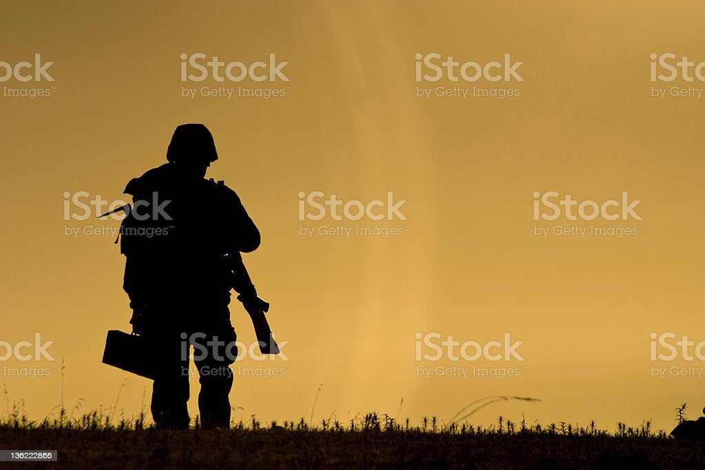 Isolated soldier royalty-free stock photo