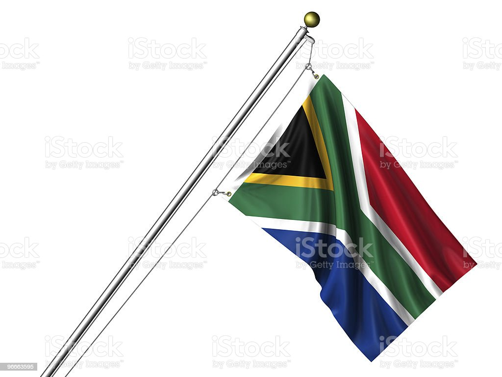 Isolated South African Flag stock photo