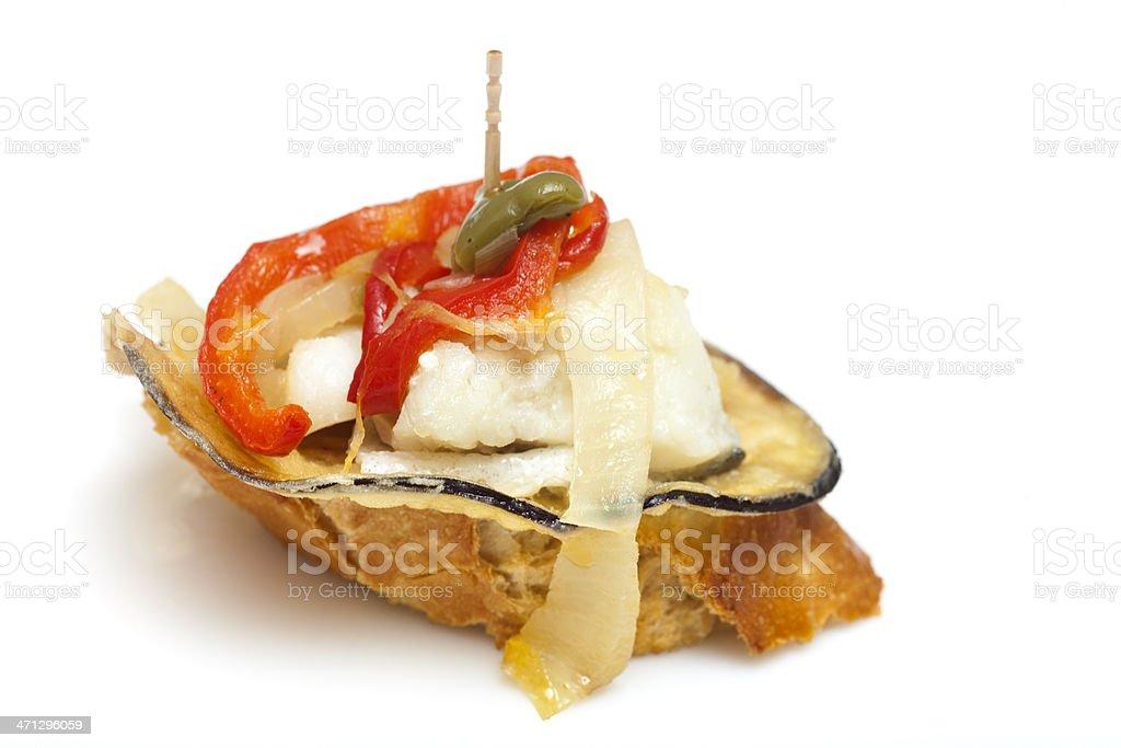 Isolated spanish appetizer stock photo