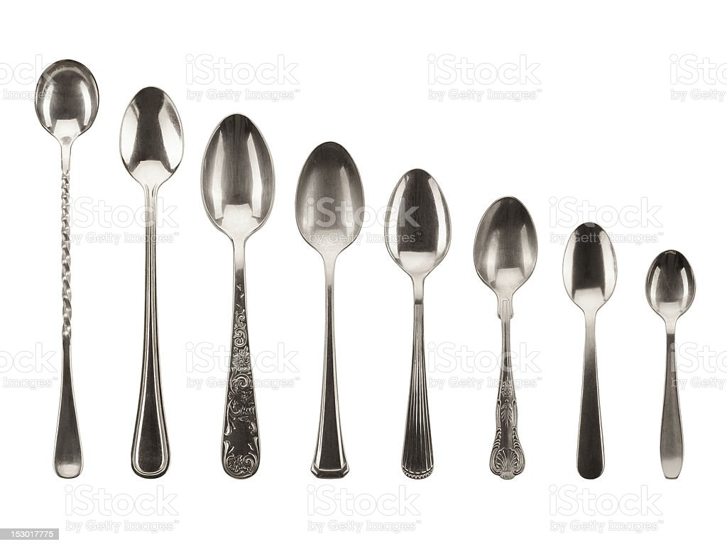 Isolated Spoon Collection royalty-free stock photo