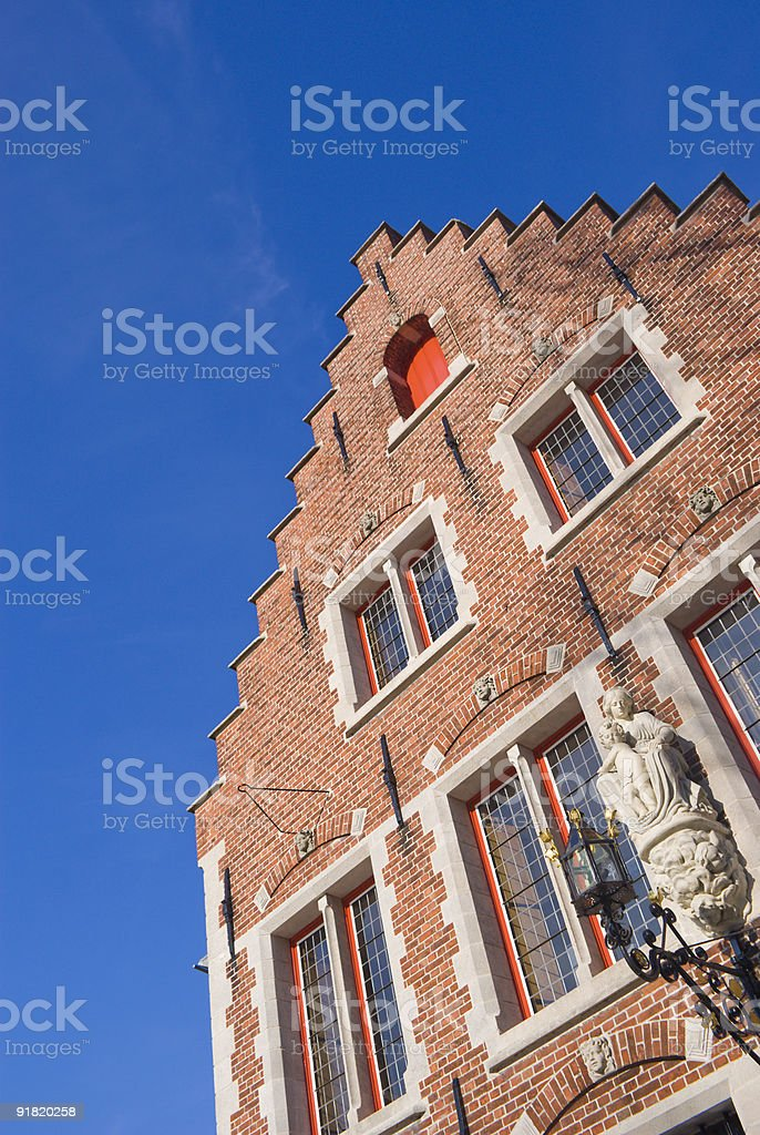 Isolated Step-Roof House royalty-free stock photo