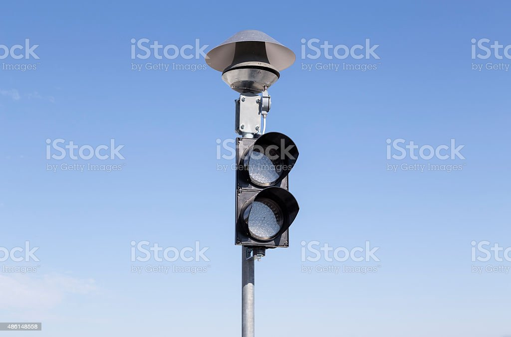 Isolated stop light royalty-free stock photo