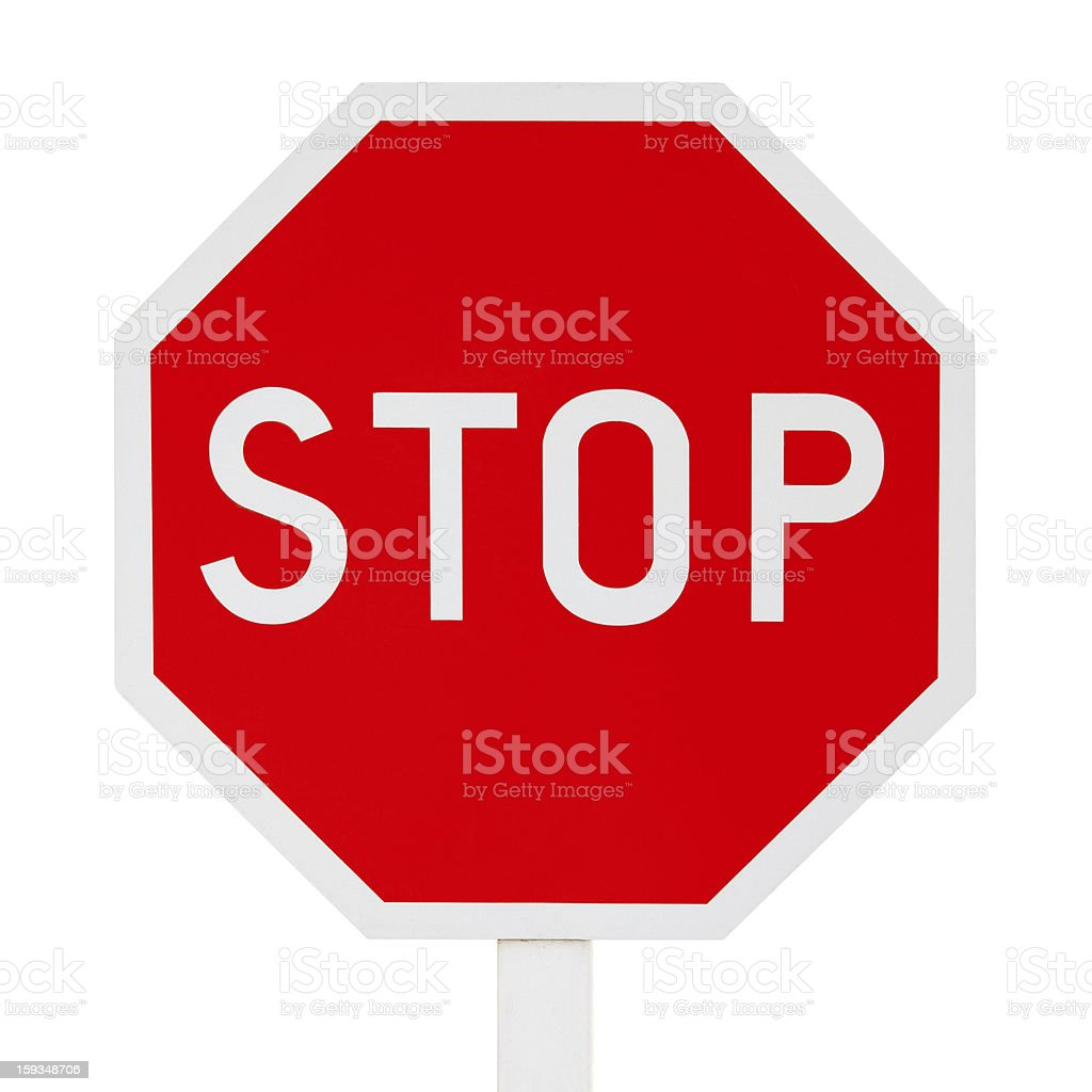 Isolated stop sign royalty-free stock photo