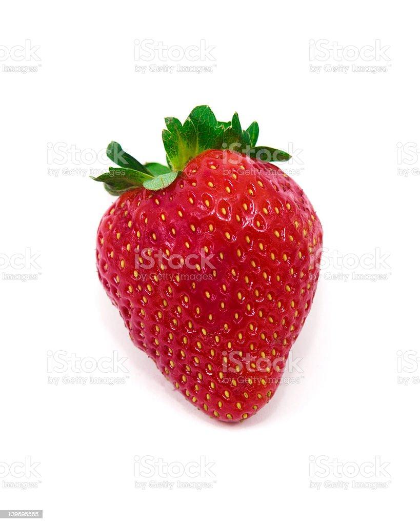 Isolated Strawberry on White Background royalty-free stock photo