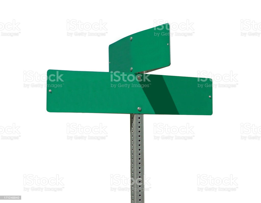 Isolated Street Sign with Clipping Path stock photo