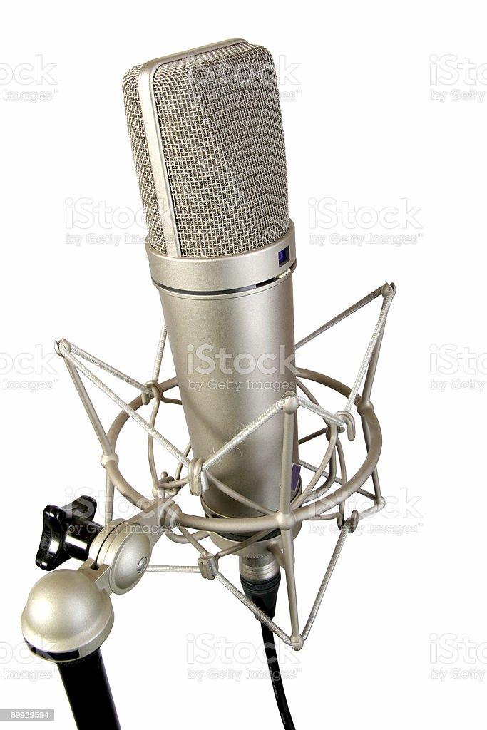 isolated studio microphone royalty-free stock photo