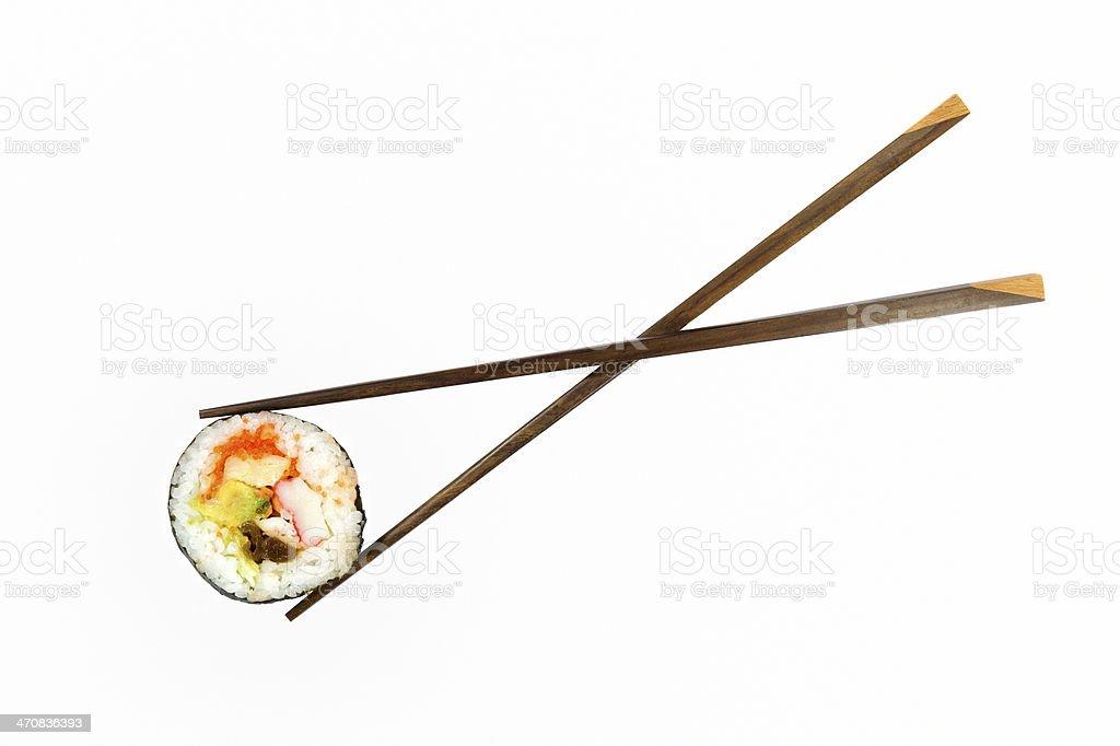 Isolated sushi stock photo