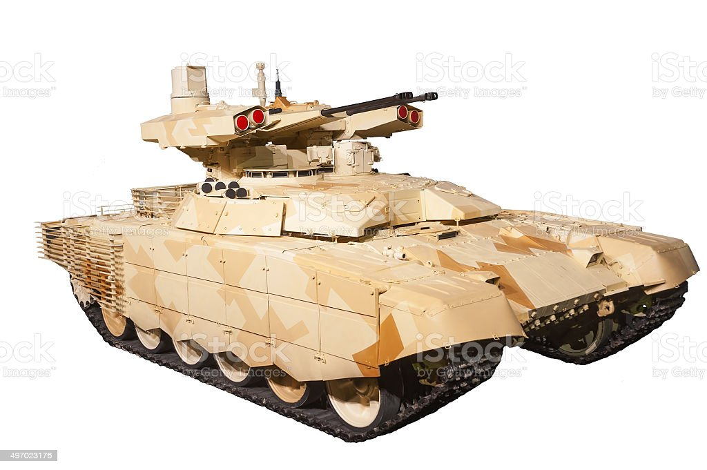 Isolated Tank Support Fight Vehicle Terminator-2 stock photo
