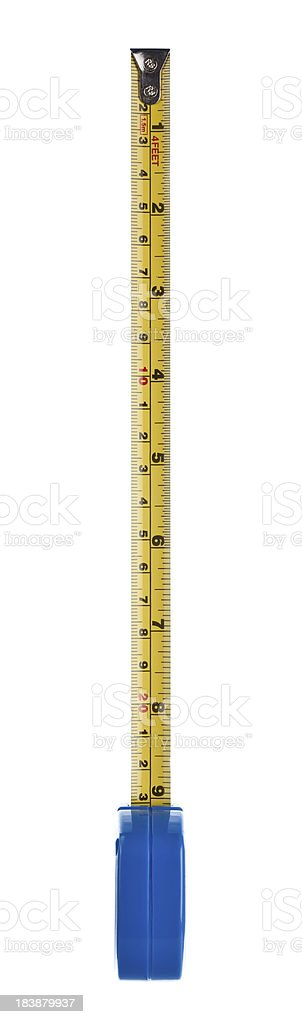 Isolated tape measure royalty-free stock photo