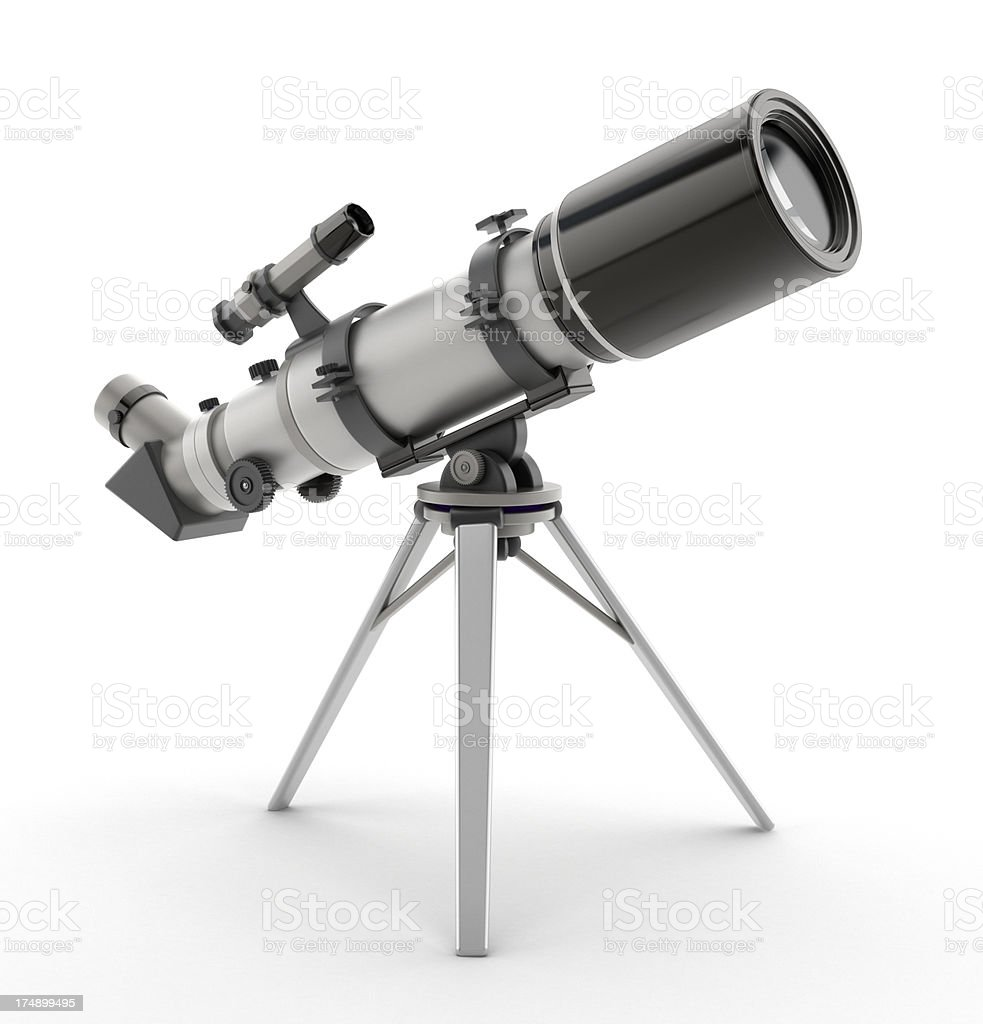 Isolated telescope royalty-free stock photo