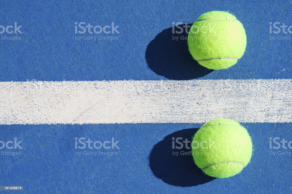 Isolated tennis balls royalty-free stock photo