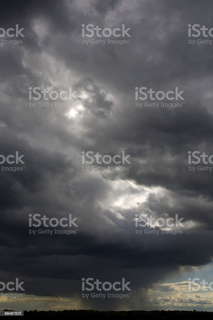 Isolated Thunderstorm Cell stock photo