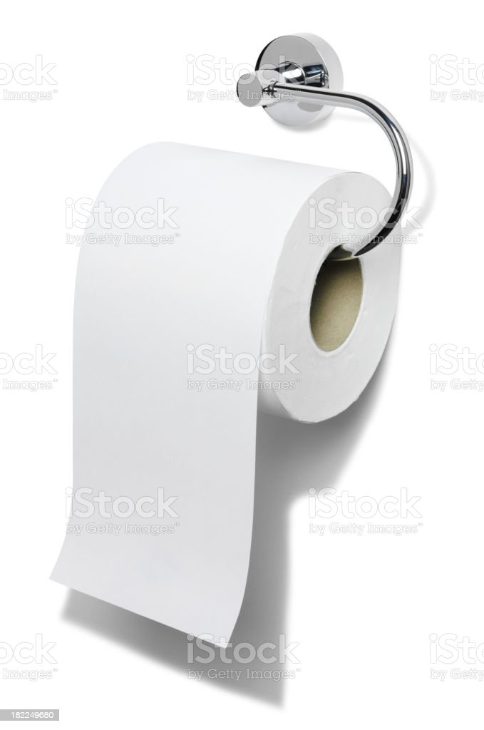 Isolated Toilet Roll stock photo