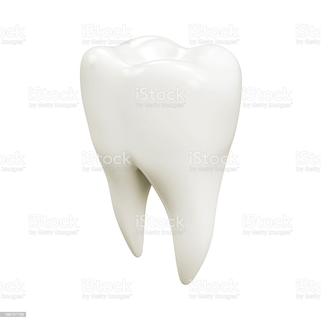 Isolated tooth stock photo