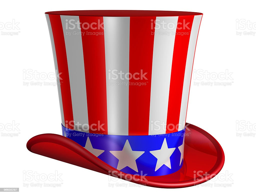 Isolated Top Hat for Uncle Sam stock photo