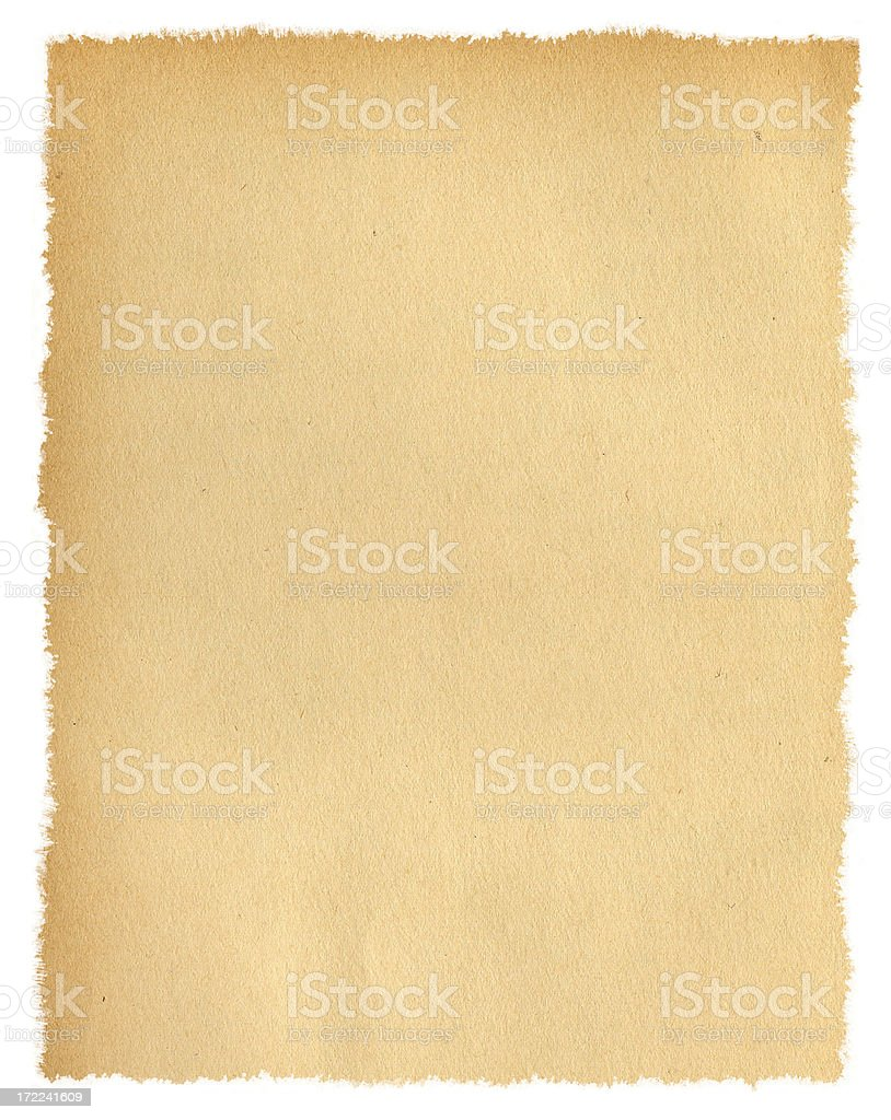 Isolated Torn Paper royalty-free stock photo