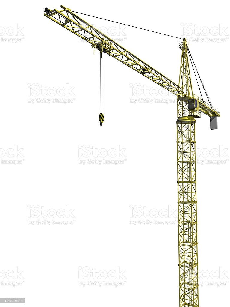 Isolated Tower Crane stock photo