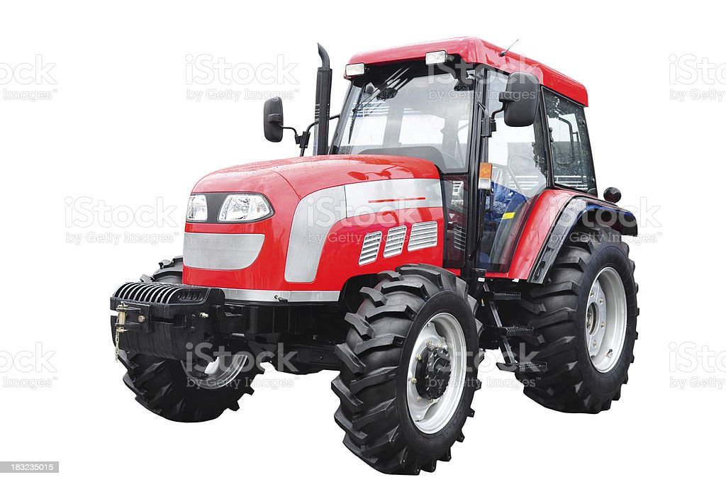 Isolated tractor royalty-free stock photo