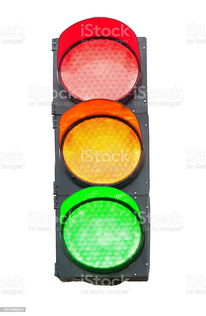 isolated traffic light stock photo