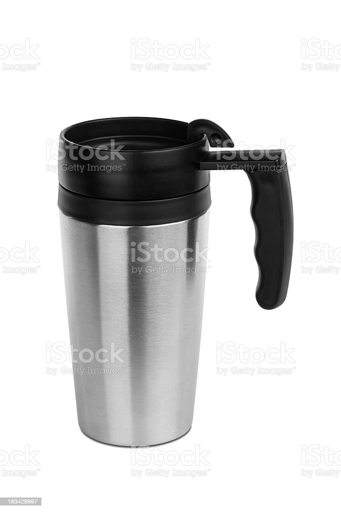 Isolated Travel Mug with Path stock photo