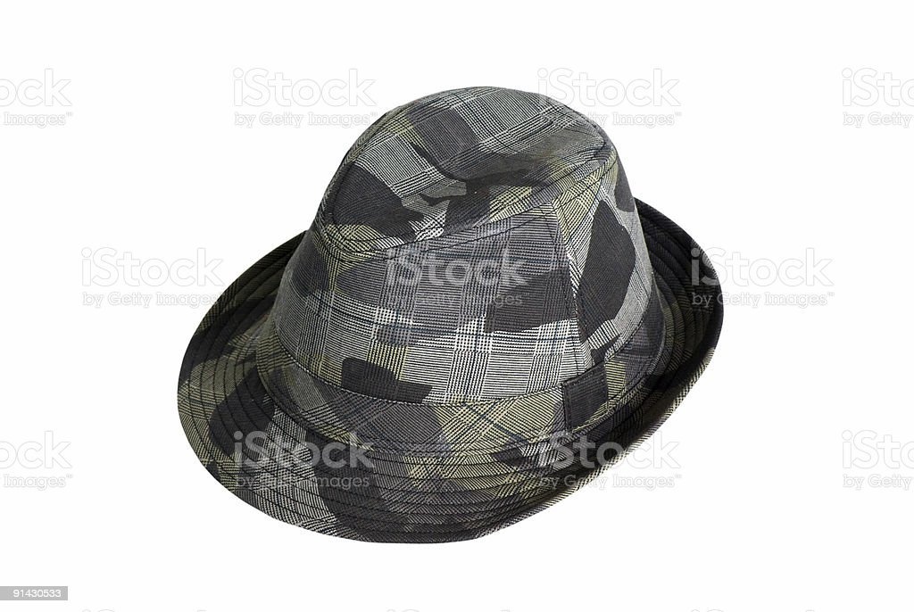 Isolated Trilby/Fedora Hat with Clipping Path stock photo