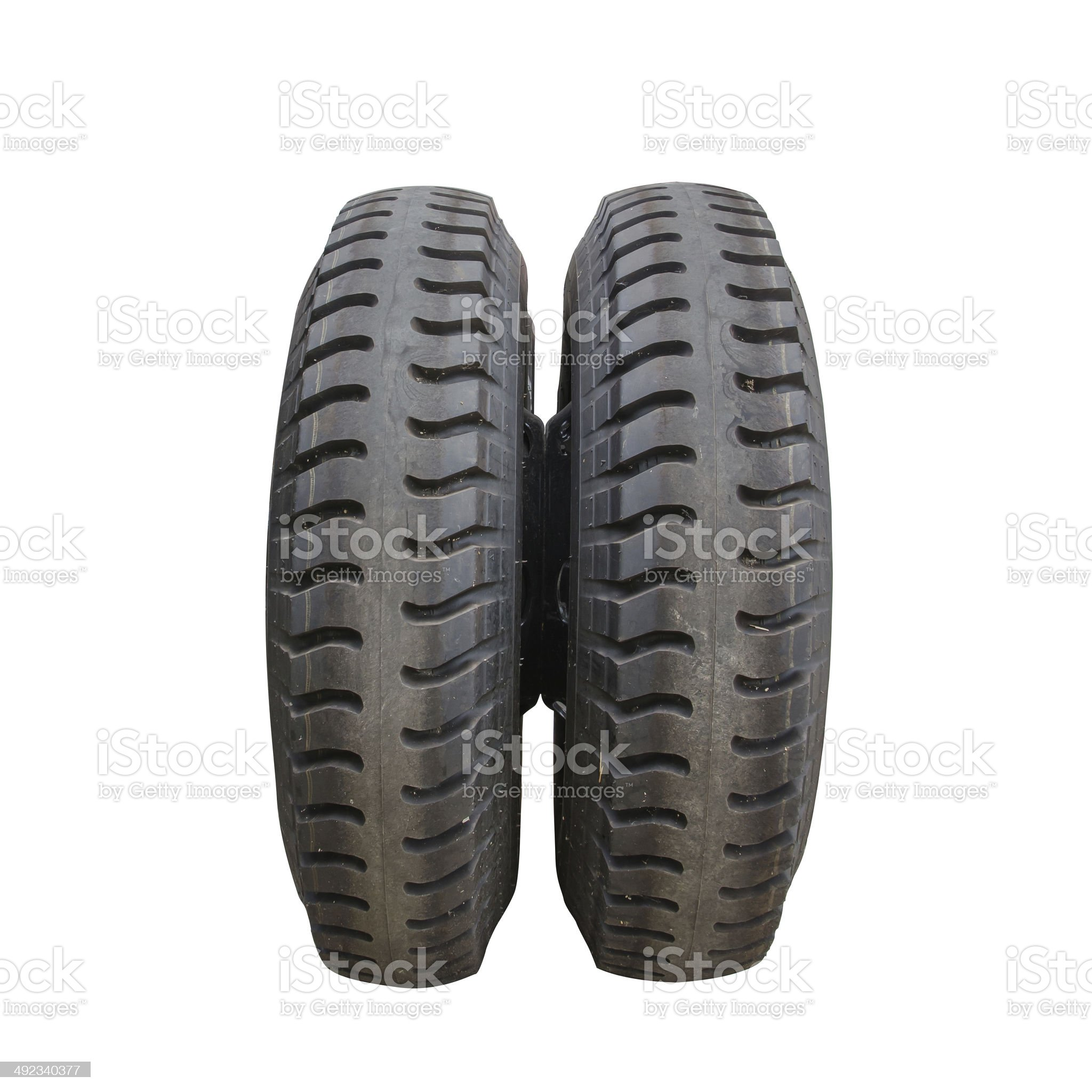 Isolated truck wheel and tire royalty-free stock photo