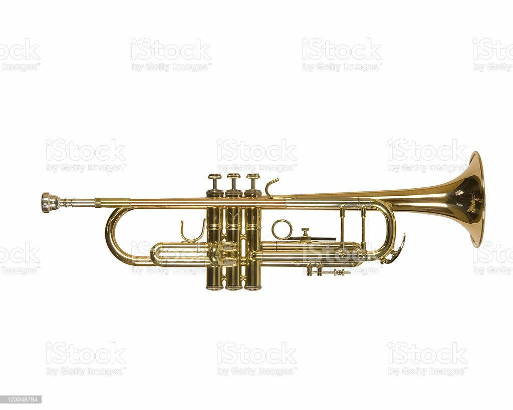 isolated trumpet stock photo