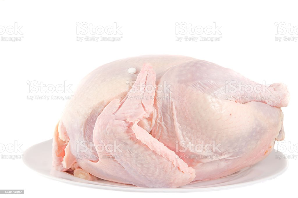 isolated turkey on a platter royalty-free stock photo