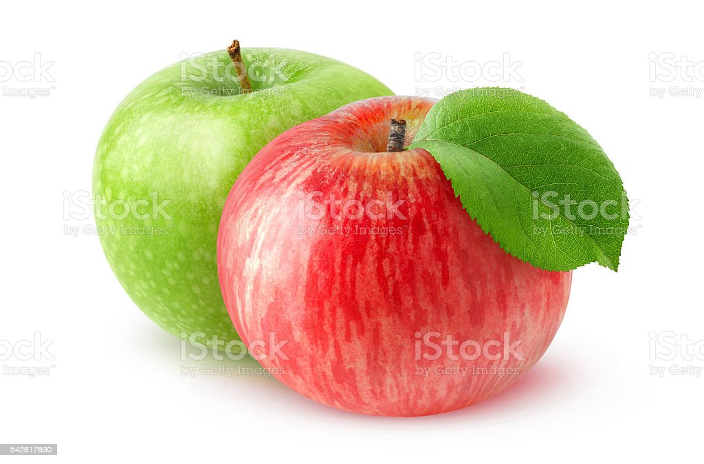 Isolated two apples stock photo