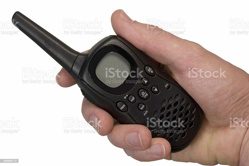 Isolated UHF handheld radio set royalty-free stock photo