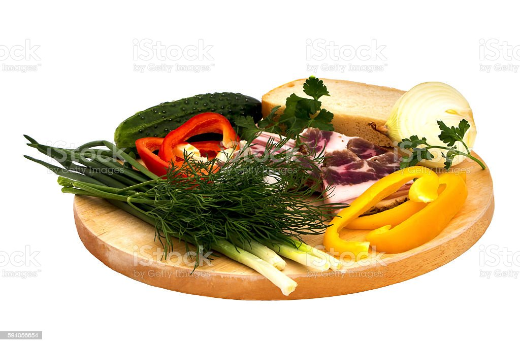 Isolated Vegetable set. stock photo