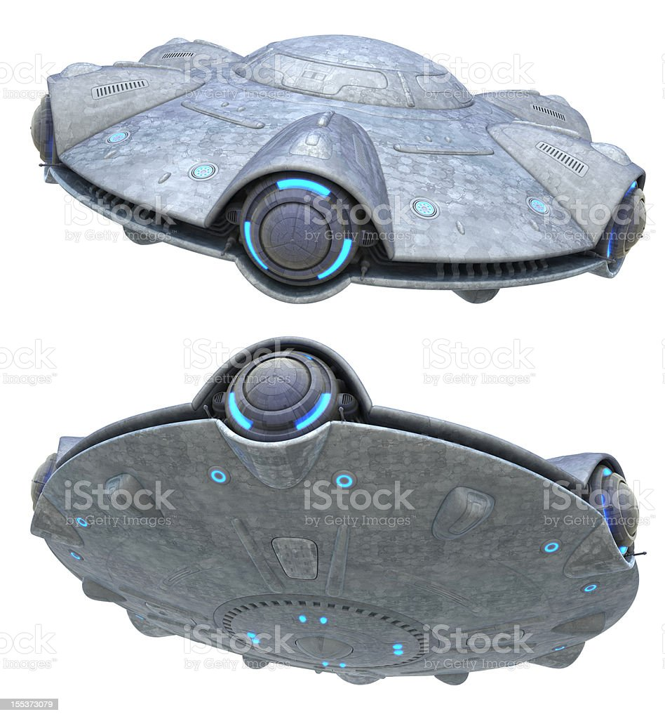 UFO. Isolated version royalty-free stock photo