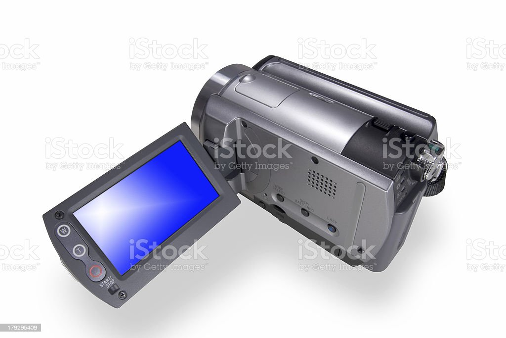 Isolated video camcoder royalty-free stock photo