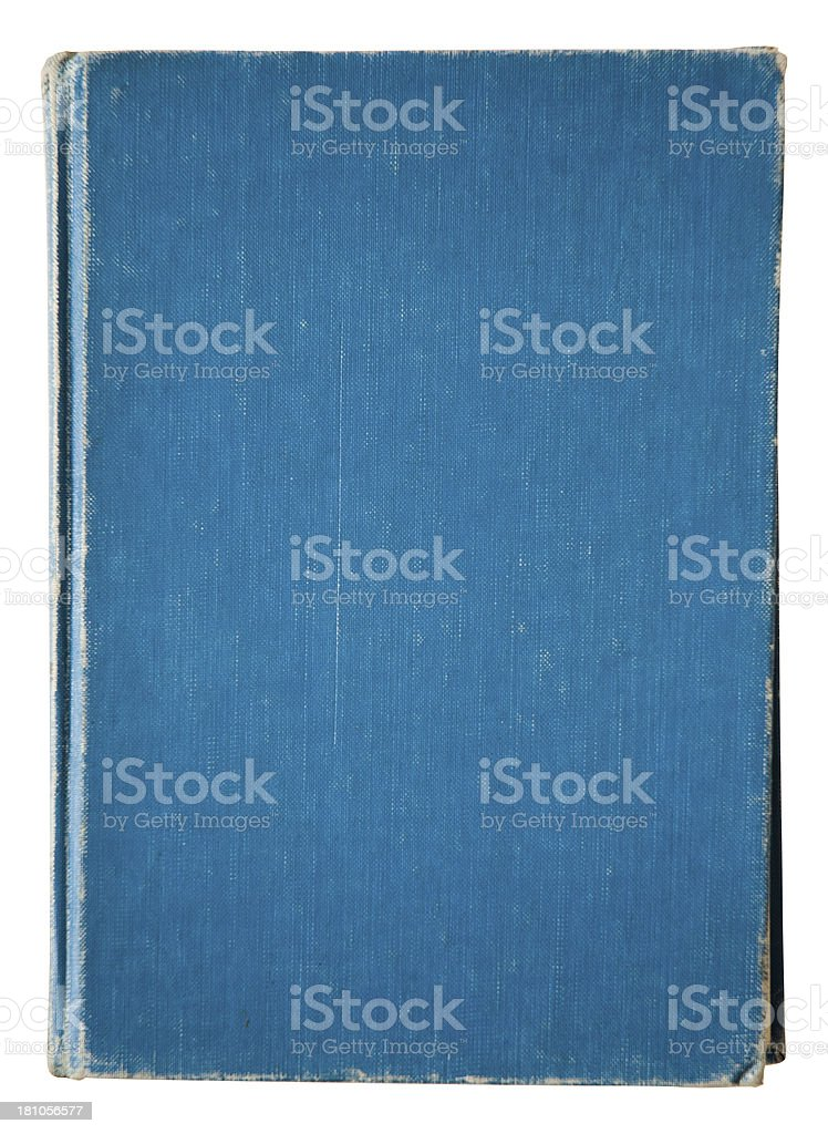 Isolated Vintage Book Blue Covered royalty-free stock photo