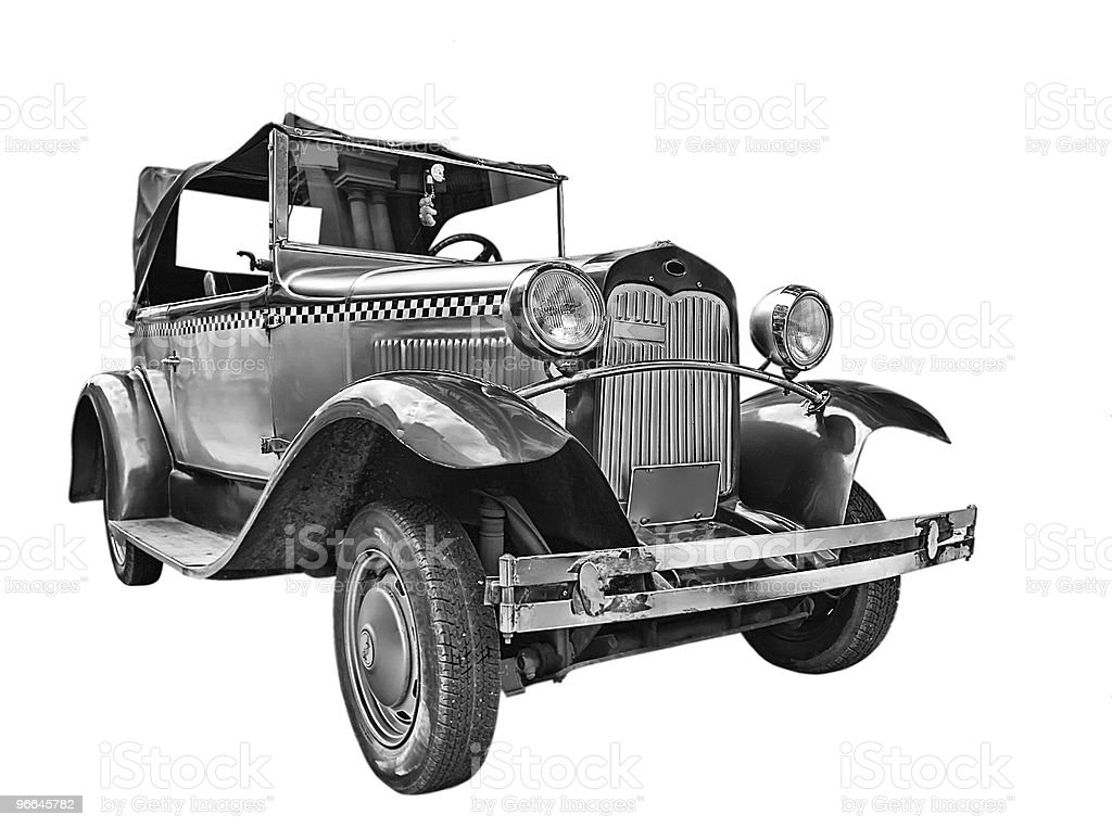 Isolated vintage car royalty-free stock photo