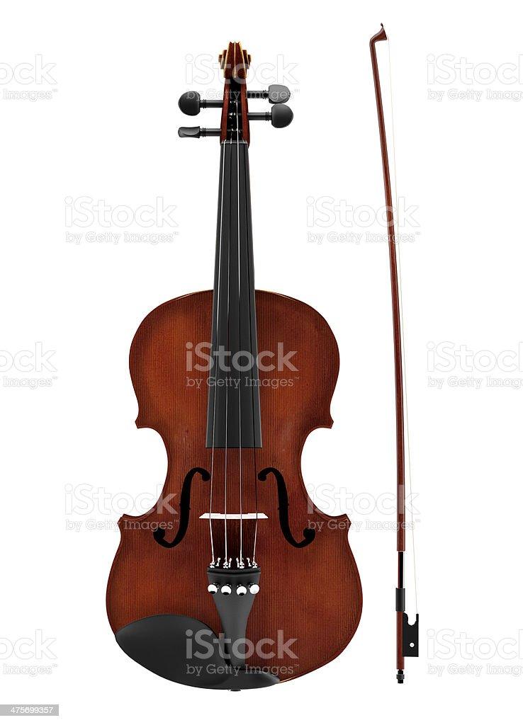 Isolated Violin stock photo