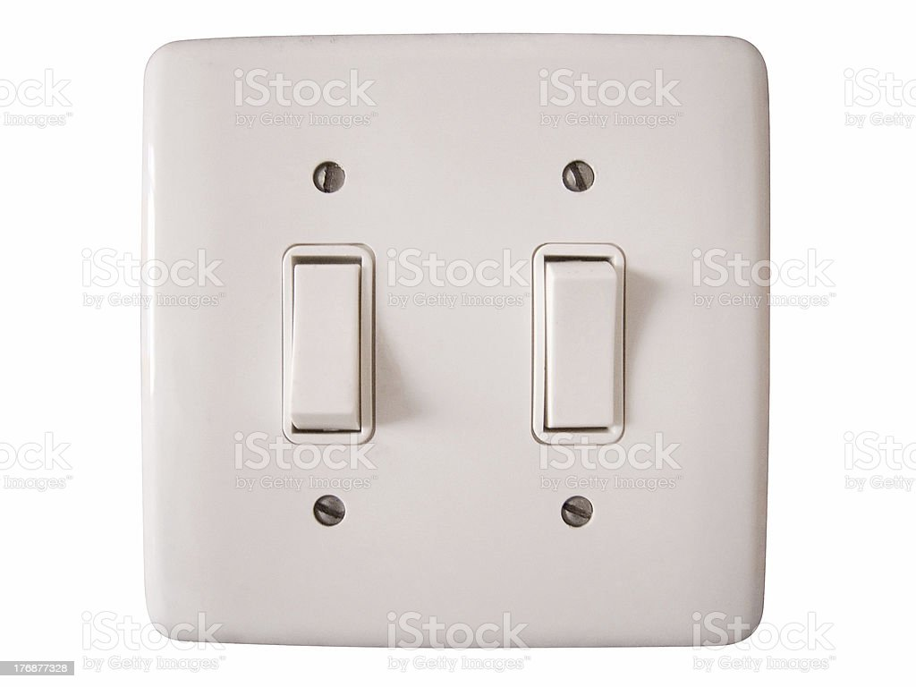Isolated wallplate royalty-free stock photo