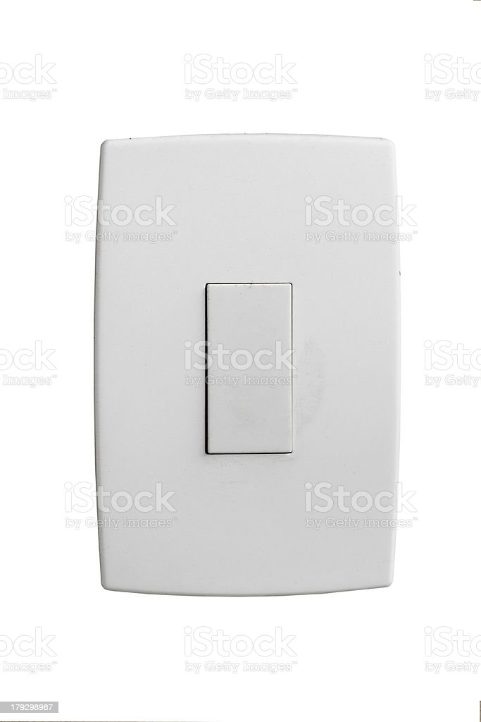 Isolated wallplate stock photo