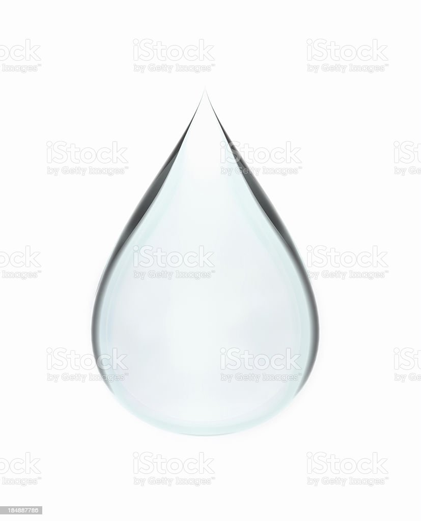 Isolated Water Drop stock photo