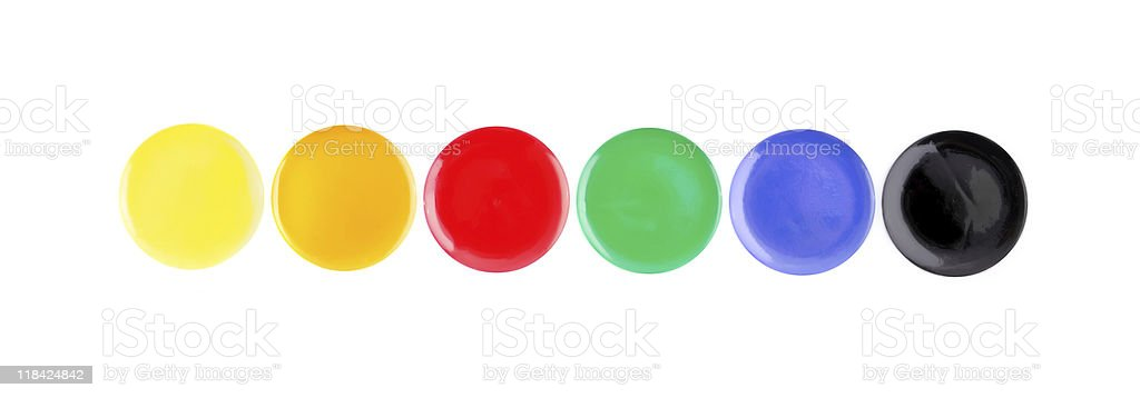 Isolated water-colors stock photo
