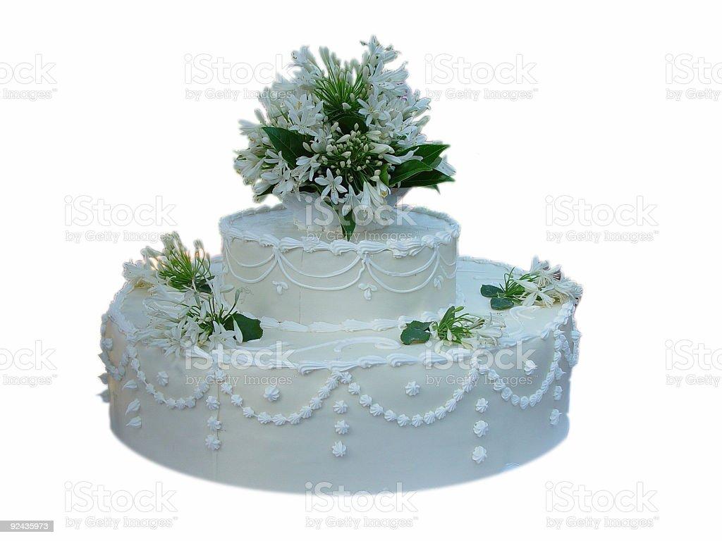 Isolated Wedding Cake royalty-free stock photo