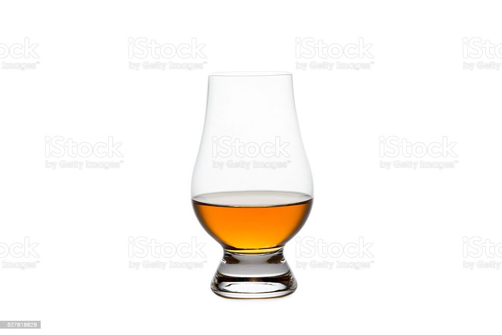 Isolated Whiskey in a Crystal Tasting Glass stock photo