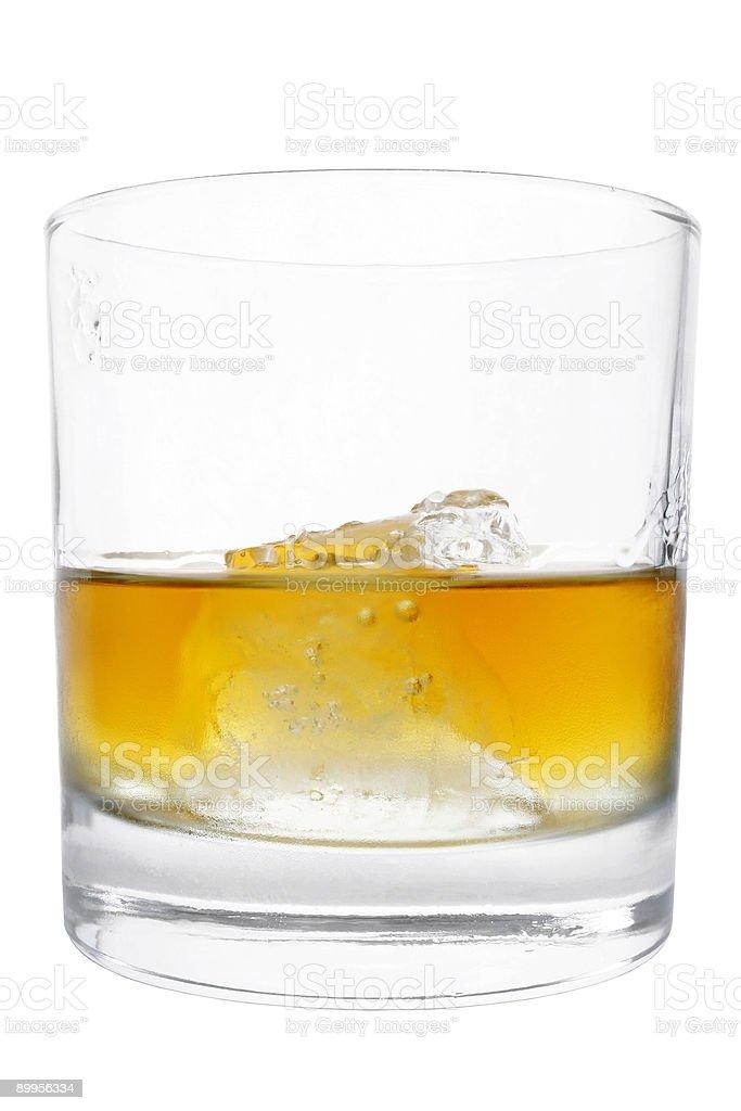 Isolated Whiskey Tumbler royalty-free stock photo