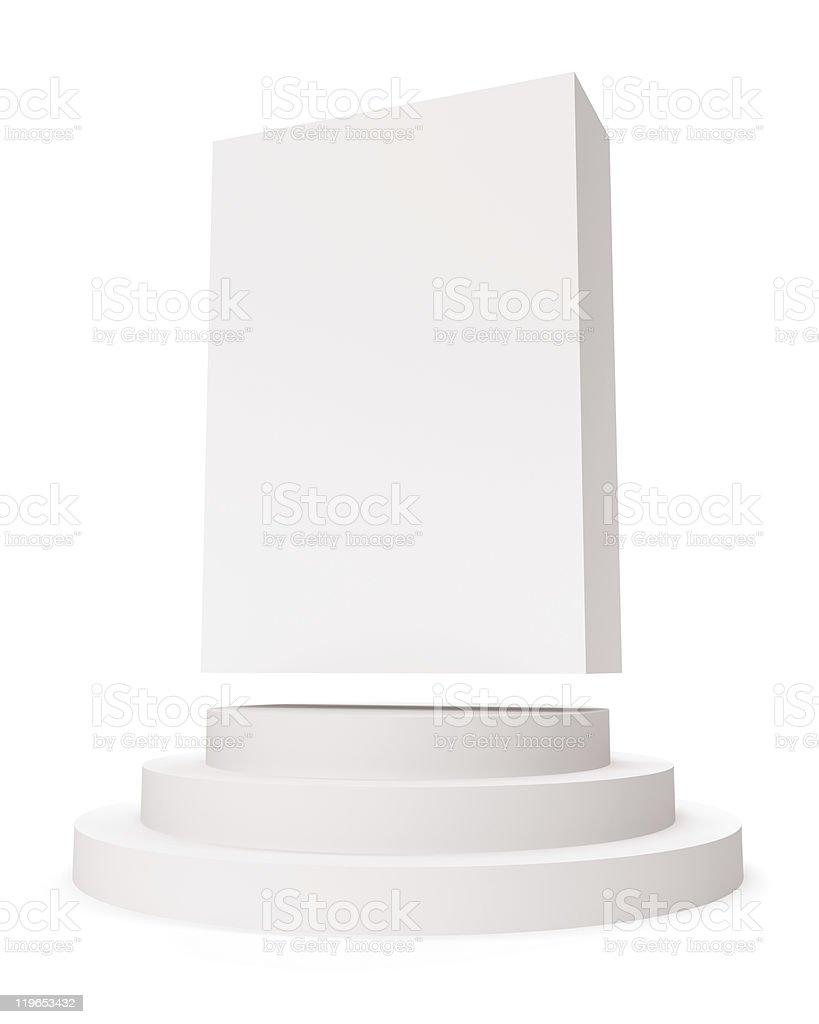 Isolated White Box royalty-free stock photo