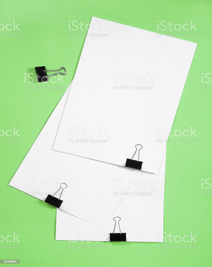 Isolated white paper royalty-free stock photo
