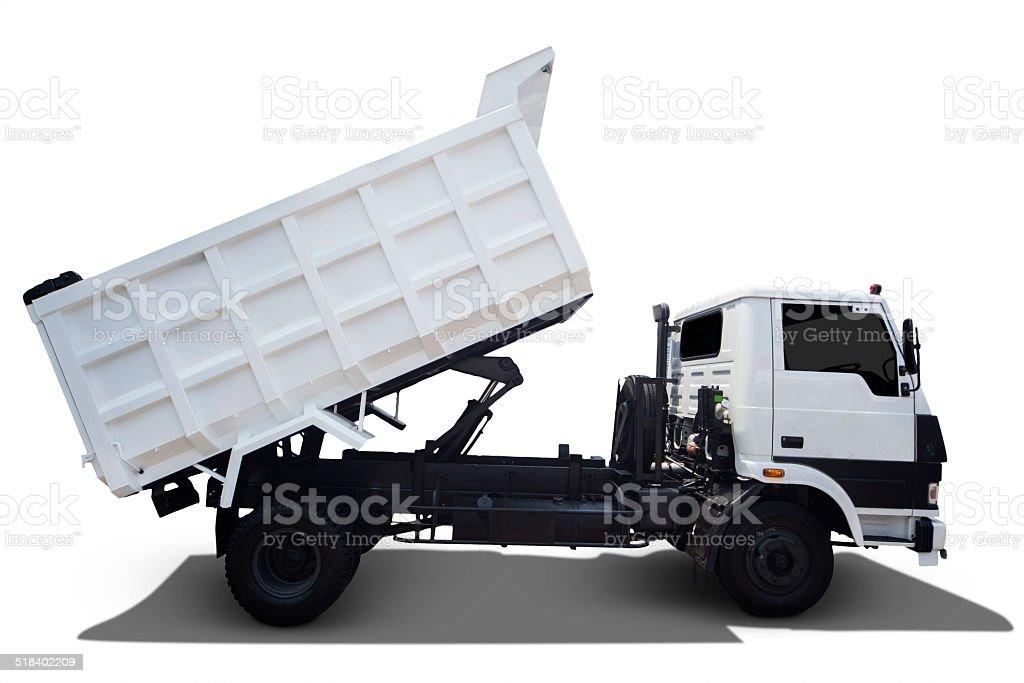 Isolated White Truck stock photo
