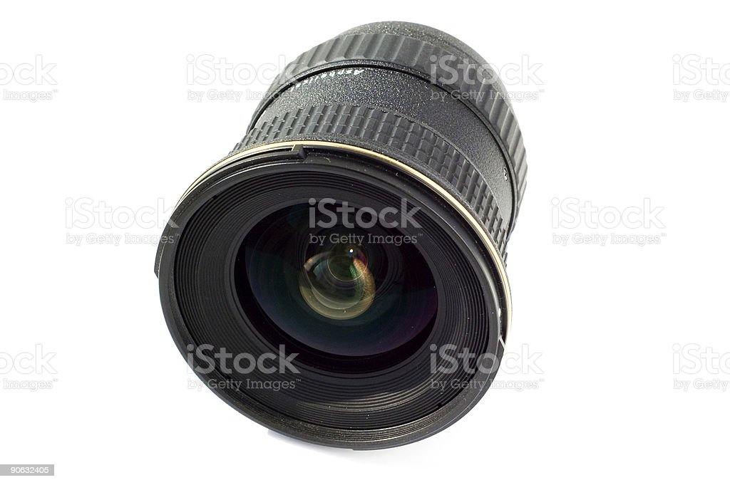 Isolated wide lens royalty-free stock photo