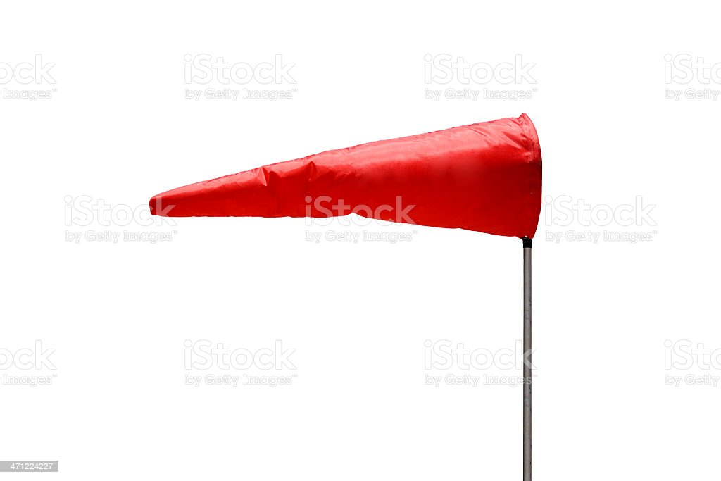 Isolated windsock stock photo