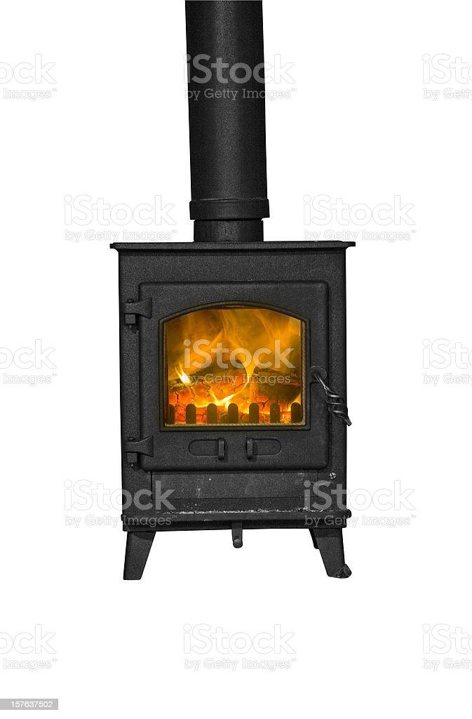 Isolated Wood Burning Stove stock photo