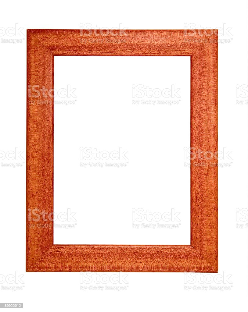 Isolated wooden frame royalty-free stock photo